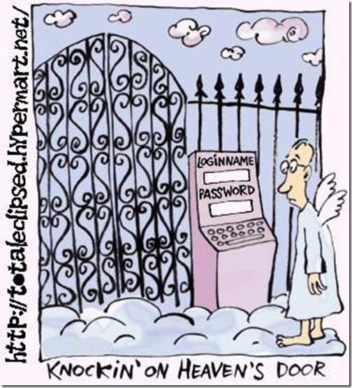cartoon - knocking on heavens door