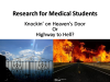 Medical Student Research: The First Year Quandary