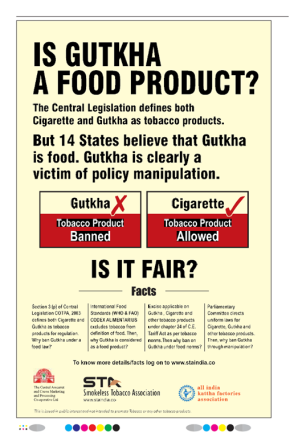 Banning Gutkha: Paternalism in Public Health or Pro-Active Advocacy?
