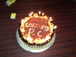 Wrong spelling. On MY birthday cake. Sigh.