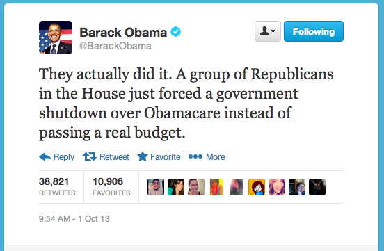 Obama Blames the Republicans