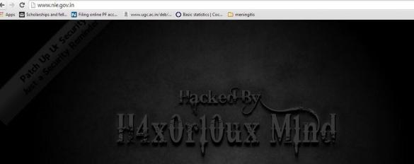 NIE Hacked!