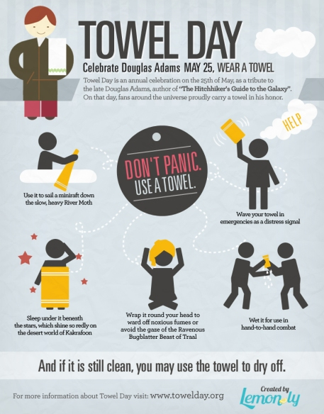 Towel Day Infographic (Credits: Lemonly)