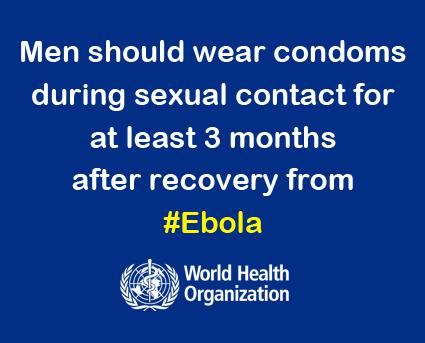 WHO: Ebola and Sexual Contact