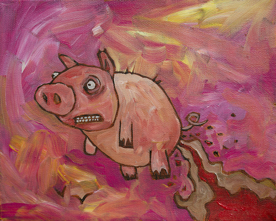 Diarrhea Pig Flying West (Matt Billman on DeviantArt)