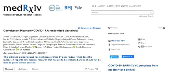 Estudo holandês controlado aleatório pelo ConCOVID interrompido para reprojetar - cepticemia 2